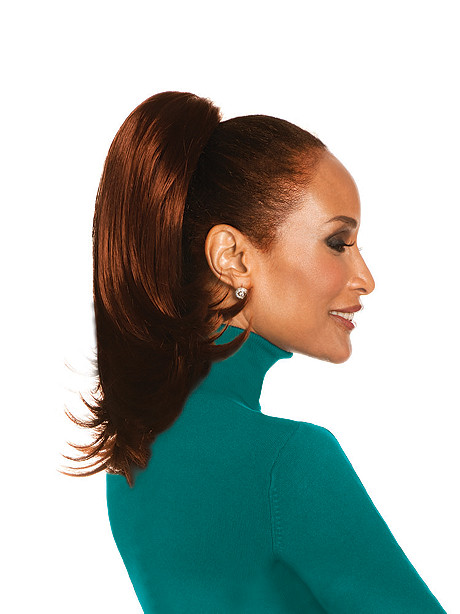 "Chic 16"" Straight Layered Reversible Ponytail"
