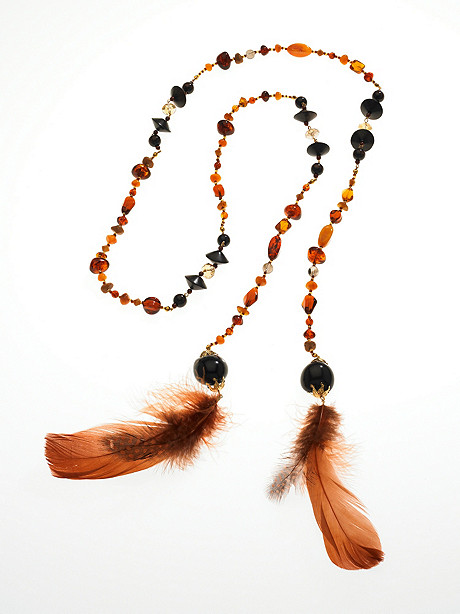 Beads of a Feather Lariat Necklace