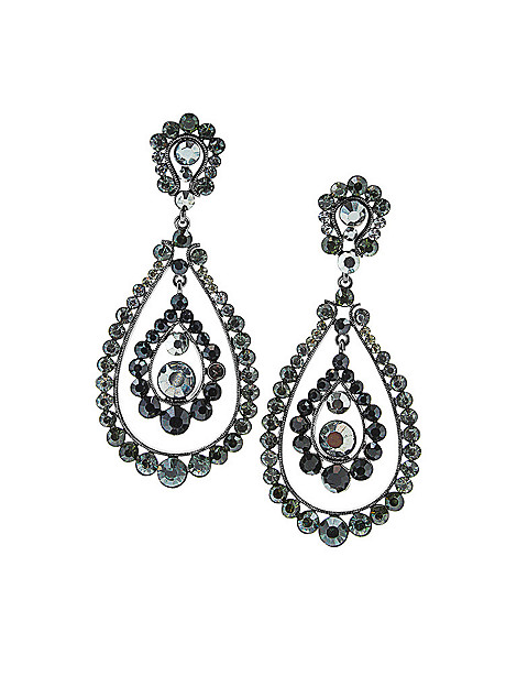 teardrop chandelier earring