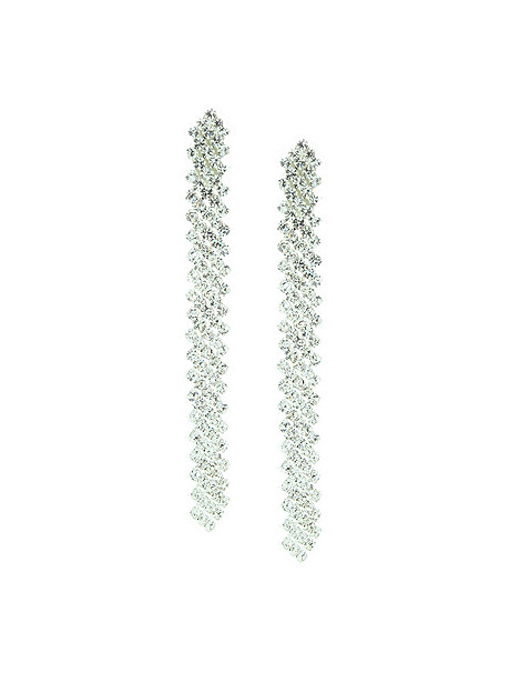 Rhinestone Twist Earring
