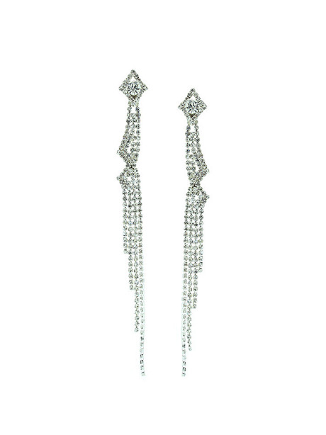 Rhinestone Shoulder Duster Earring
