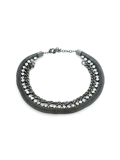 rhinestone chain collar