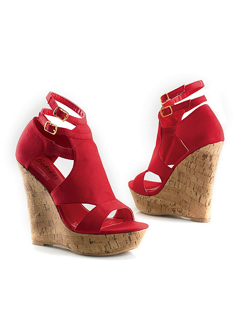 Pop the Cork Canvas Wedge