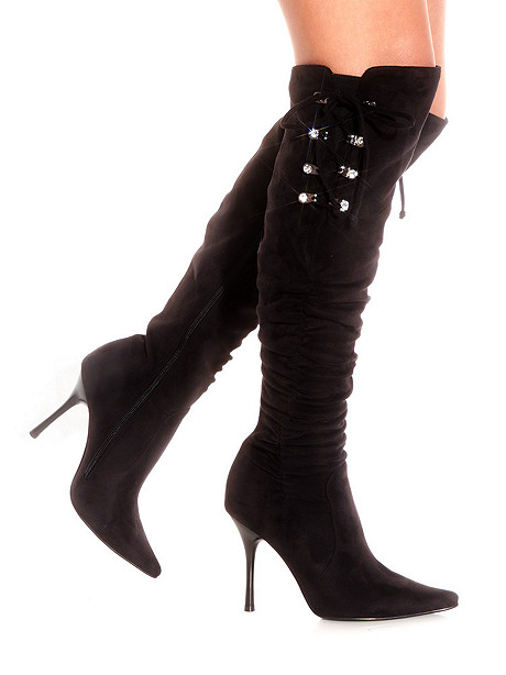 Corset Tie Knee-High Boot