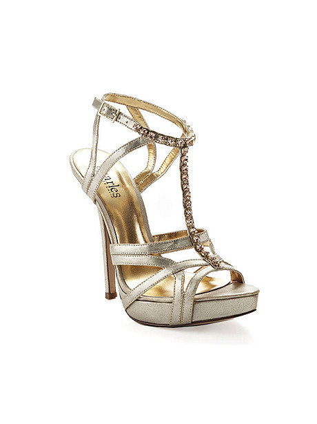 Rhinestone T-Strap Stiletto by Charles David
