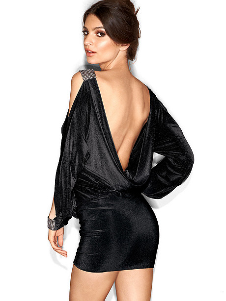Draped Back Cling-n-Bling Dress