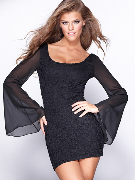 Bell Sleeve Mini Dress