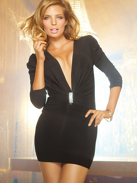 Rhinestone Plunge Dress