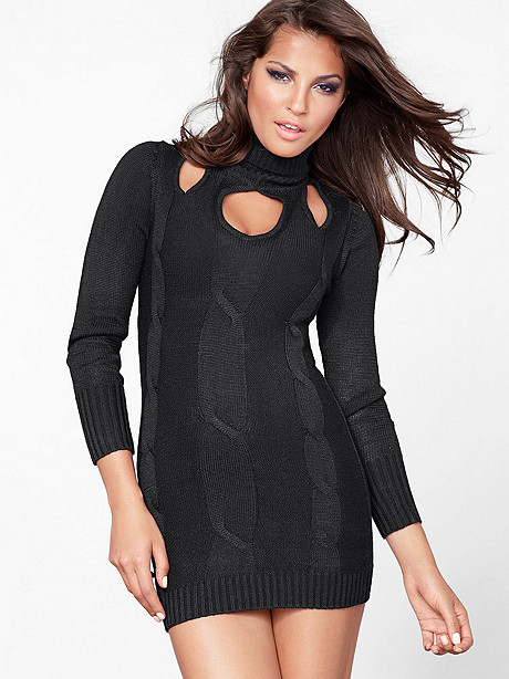 Cutout Sweater Dress