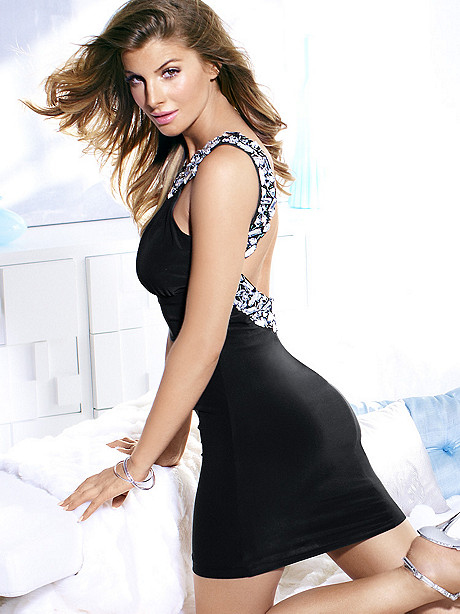 LOW BACK RHINESTONE DRESS