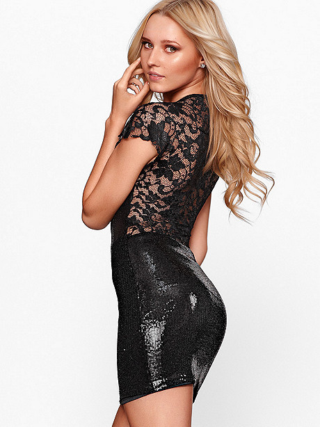 LACE & SEQUIN DRESS