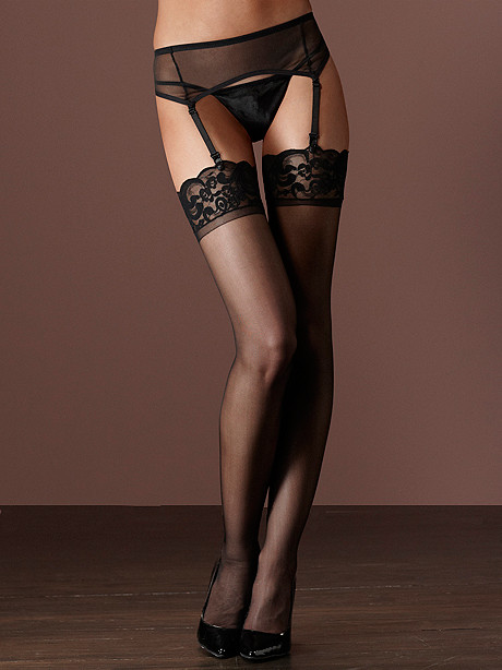 Scallop Lace-Top Stocking PLUS