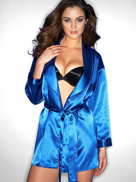 Shawl Collar Satin Robe
