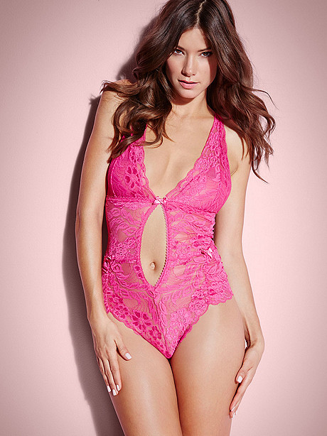 Ruched Lace Teddy