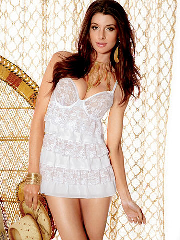 Elated Lace Tiered Babydoll