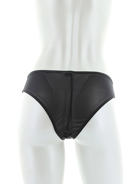 Sleek Satin & Mesh Boy Short