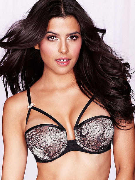 Strappy Lace Over Satin Bra
