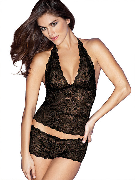 Brazilian Lace Cami & Boy Short Set