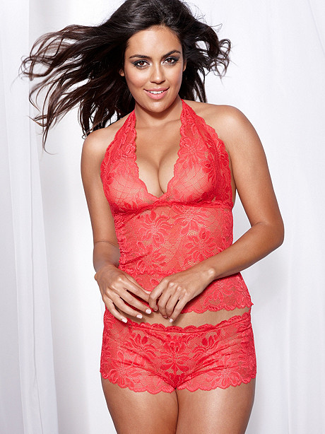 Brazilian Lace Cami & Boy Short Set PLUS