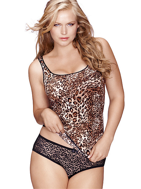 Leopard Cami Doll Set Plus
