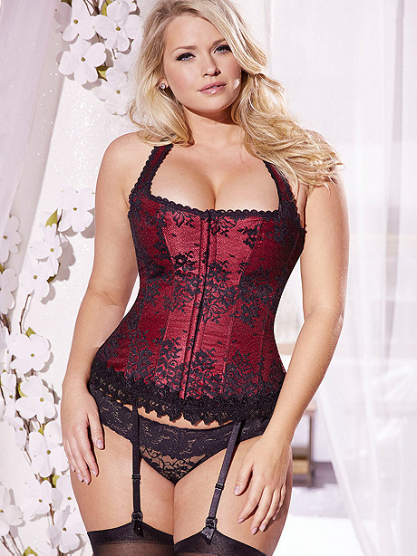 Hollywood Dream Full-Figure Lace Halter Corset