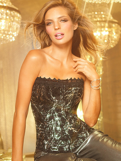 Hollywood Dream Strapless Foil Corset