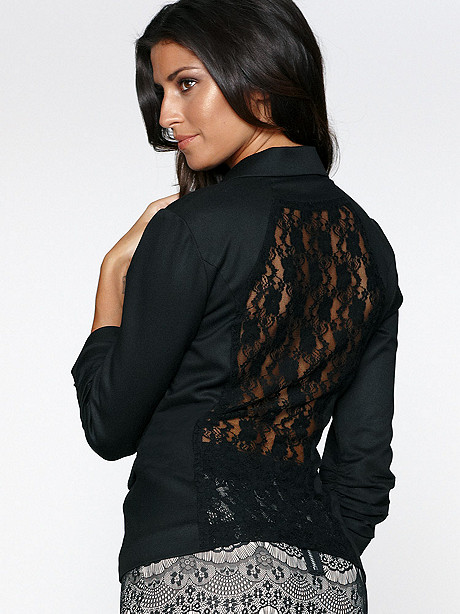 Lace Back Blazer