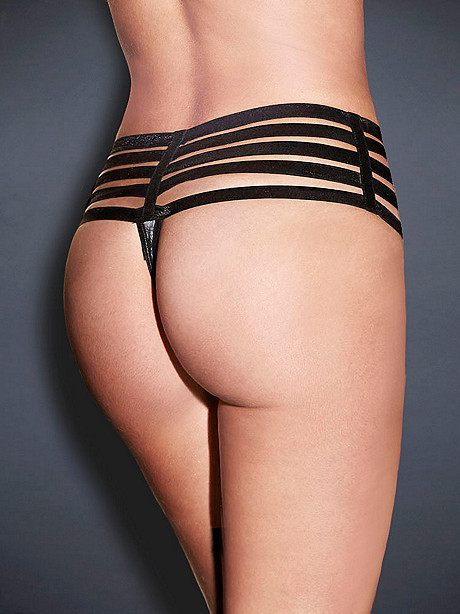 Bands of Bold Open Panel G-String
