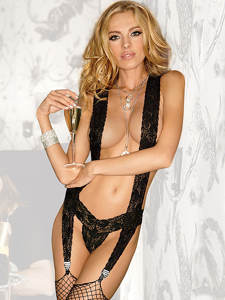 Lace Suspender Teddy