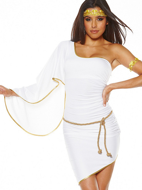 Grecian Goddess One-Shoulder Dress