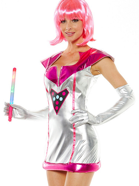 Light-Up Queen of the Galaxy Costume