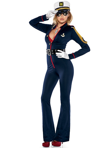 Marine Stretch Jumpsuit Costume