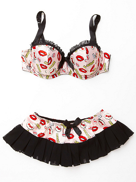 Comic Book Print Bra