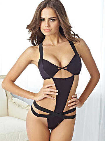 Strappy Open-Sided Teddy