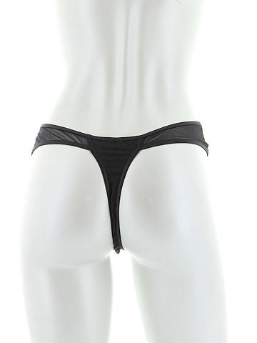 Sleek Microfiber & Mesh Thong