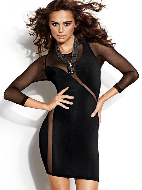 Wrap-Around Body-Con Dress