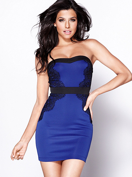 Strapless Scuba Dress
