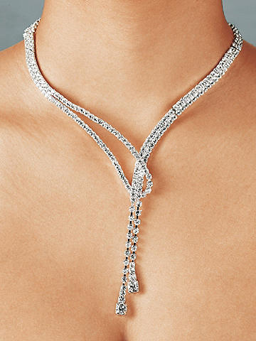 Rhinestone Loop Necklace