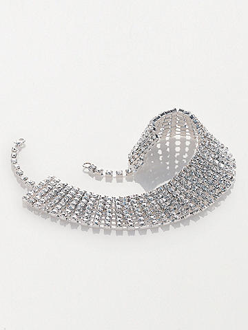 Rhinestone Choker - A simply stunning accent in layers of sparkling rhinestones. With adjustable clasp. USA.