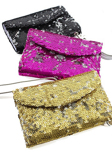 Sequin iPhone Wristlet