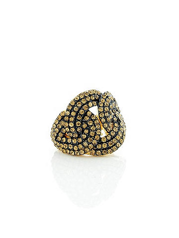 Knotted Rhinestone Ring