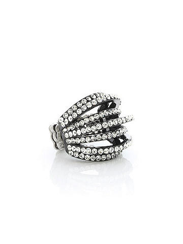 Rhinestone Arches Ring