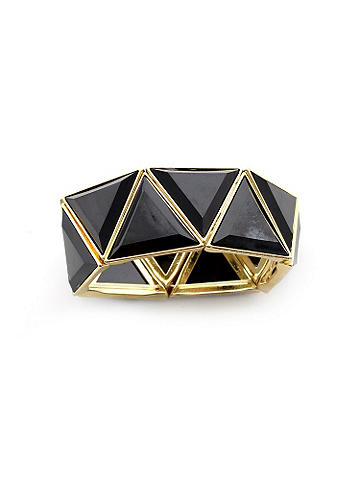 Triangle Stretch Bracelet - Wrap, stack or layer this stunning bangle. Its geometric shape is the perfect accompaniment to  your everyday ensemble. Crafted in a stretch design. Imported.