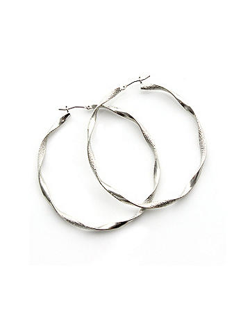 Twisted Oval Hoop - Perfect from day to night, this classic earring defines your style with a subtle twist design. Snap post closure. Imported.
