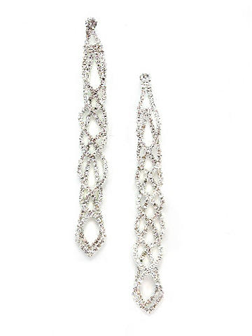 A Twist of Sparkle Earring - Get glamorous for a season of celebrations. A glittering twist of rhinestones cascades from your ear on this stunning accent. Post closure. Imported.