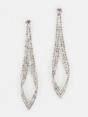 Cascading Rhinestone Earrings - Reminiscent of a beautiful chandelier, these Cascading Rhinestone Earrings could put a swing into anyone's step. Post closure. Imported.