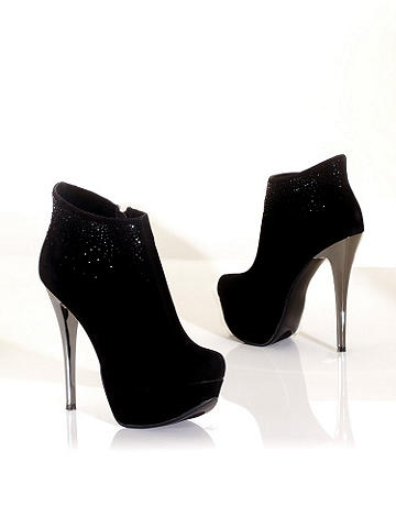 Mirrored Platform Bootie