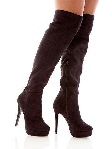 Faux Suede Over-The-Knee Boot