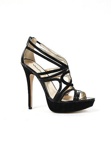 Strappy Swirl Stiletto by Charles David - Charles by Charles David. Simply elegant, this heel features swirling straps and a swoon-worthy heel. Glitter sparkles at the vamp. Zipper closure at back. Imported.