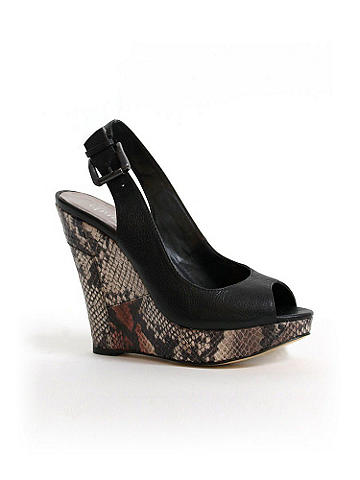Cobra Slingback Wedge Charles by Charles David - New heights of cool and a wild print make these wedges the must-have 
